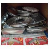 Metal baking pans - muffin, pie ,cake, loaf