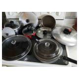 Pots,  pans,  skillets,  lids