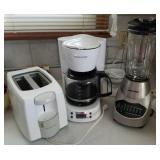 Black and Decker blender,  coffee pot, toaster