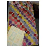 Baby crib size tied blankets, oldest 60 x 38 ,