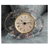 West Germany  Staiger clock in crystal base,