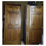 Wood doors & frames. 2 ft 6 inches, by  6 ft 8 in.