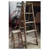 Wood step ladder. 2 ft and 5 ft