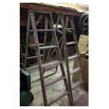 Wood step ladders, Two -  6 foot.