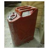 Metal red Jerry gas can