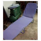 Blue lounge lawn chair