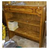"Wood shelf. 44"" wide 12"" deep, 45"" tall"