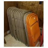 18 metal folding chairs