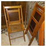 2 wood folding chairs  Mt. Summit Christian Church