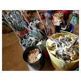 Peg board racking supplies, various styles