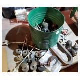 Casters, foot ball rollers, pulley casters