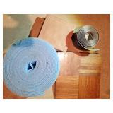 Parkey flooring squares, vinyl cove base
