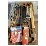 Hand tools, hammer, wrenchhes, square, drill bit
