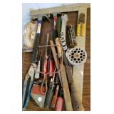 Hammer,s wrenches, scroll saw, drill bits