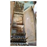 drill bits in metal case