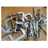 C-Clamps, turn bucklets, anchors, cable clamps