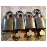"""Ball"" corporation pad locks with keys"