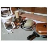 Coffee pot, food processor, electric skillet
