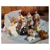 Ceramic nativity set, 11 pieces, made in China