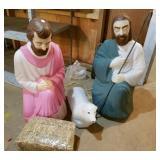 Outdoor Nativity parts, Joseph,  Lamb, Shepherd