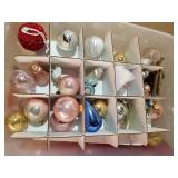 Tote of Christmas ornaments, some West Germany
