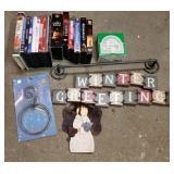 VHS, DVD, Home Decor & towel racks