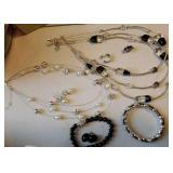 Necklace and earring sets 2,  bracelets 2,