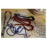 Beaded necklaces,  one magnetic