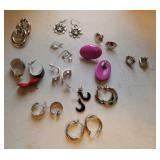 Earrings. 13 pair