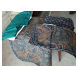 Queen size comforter, 2 bed skirts, pillow shams