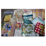 Cotton printed table cloths, vintage