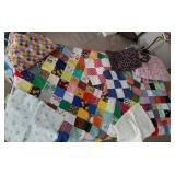 Quilt tops, one polyester, material
