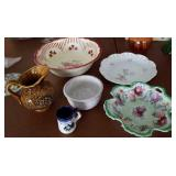 Painted porcelain, Homer Laughlin serving bowl,
