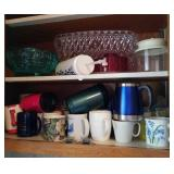 Coffee cups, mugs, and plastic bowls & canisters,