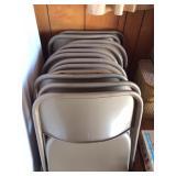 Metal folding chairs (12)