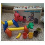 Tupperware animals, bus & serving cups