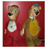 """17"""" tall Huckleberry Hound and Yogi Bear"""