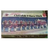 Budweiser Clysdale 8 horse hitch model