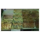 1970s license plates