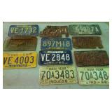 1950s & 1960s license plate