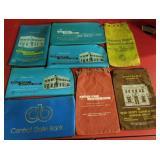 5 vinyl &  3 cloth bank bags