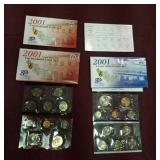 2001 US Mint uncirculated coin sets