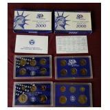 2 - 2000 US Mint Proof set