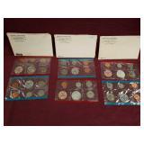 1969 & 2- 1968 Bureau of the Mint sets