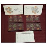 2 sets - 1992 US Mint uncirculated coin sets