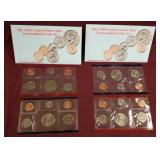 2 sets - 1994 US Mint Uncirculated coin sets