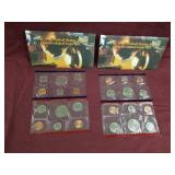 2 sets - 1995 US Mint Uncirculated coin sets