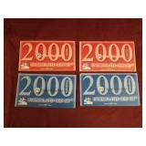 2 sets- 2000 US Uncirculated Mint sets