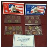 2 sets - 2003 US Mint Uncirculated Mint coin sets
