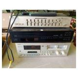 Cassette deck, CD player and Equalizer